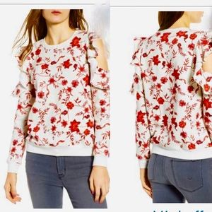 Rebecca minkoff Cold Shoulder Floral Sweatshirt